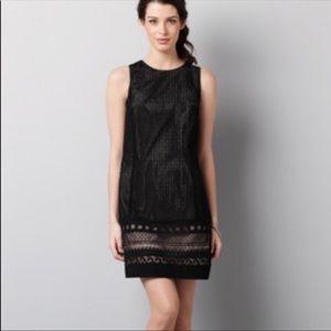 Ann Taylor Loft - Black Cotton Eyelet Dress Size 8